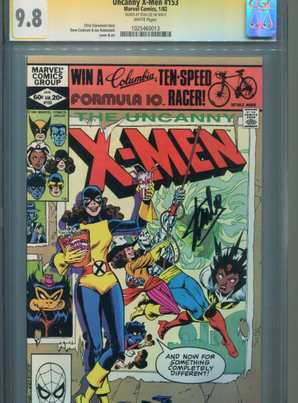 Uncanny X-Men #153 CGC SS 9.8 Signed by STAN LEE - Cockrum Rubinstein Claremont