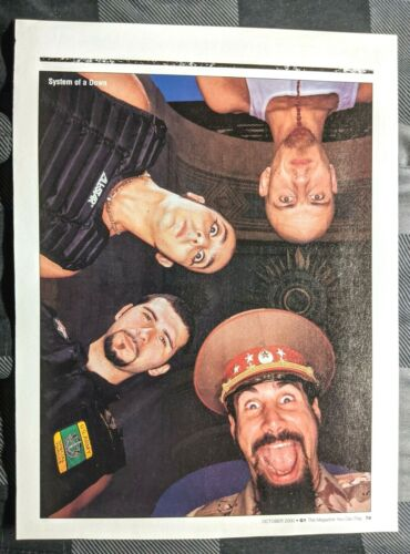 SYSTEM OF A DOWN / SERJ TANKIAN / MAGAZINE FULL PAGE PINUP POSTER CLIPPING