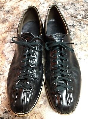 f2e755f99f97 Hyde Men s 13.5 E Black Leather Bowling Shoes Classic Vintage