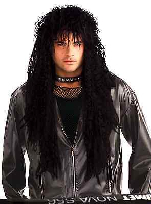 Hard Rock Rocker 80s Wig Adult Costume Accessory Black