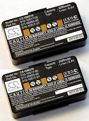 2 X New Battery Garmin Gpsmap 276 276C 296 396 496 Gps 2200Mah 8 4V 010 10517 00