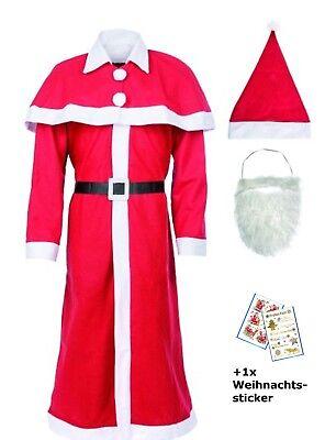 Weihnachtsmann Kostüm Santa Claus (1 Stück, Kostüm)