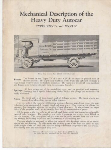 1920s Advertising Brochure for the Heavy Duty Autocar Truck