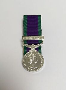 Court Mounted GSM Northern Ireland Miniature Medal Mini Army Military Mess Dress