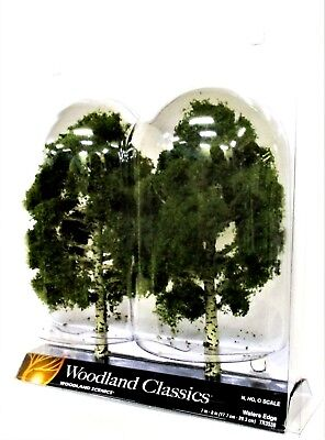 2 Pkg Ready Made - Woodland Classics Ready-Made Trees TR3538 Waters Edge - 2/pkg