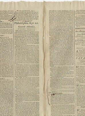 Franklin Presents - Benjamin Franklin Presents Constitution to Pennsylvania State Legislature, 1788