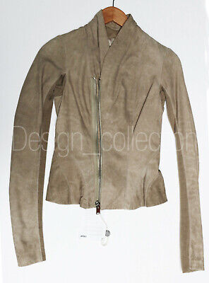 Rick Owens - Leather SHORT JACKET lambskin suede NEW RARE  [OP: 3000 $US]
