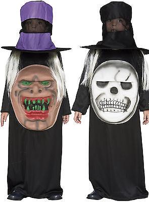 gruseliges Kinder Kostüm Totenkopf o. Monster m. Hut Halloween Jungen Mädchen  (Toten Kind Halloween-kostüm)
