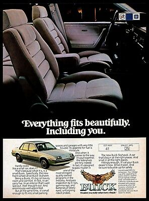 Buick Skyhawk Car - 1982 Buick Skyhawk Compact Car Cabin Automobile Vintage Photo PRINT AD 1980s