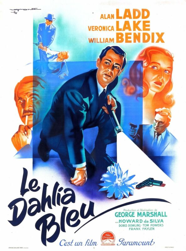 THE BLUE DAHLIA - ORIGINAL FRENCH POSTER