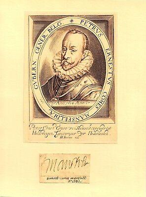 1592 Peter Ernst I. von MANSFELD  - Feldmarschall -  Statthalter NIEDERLANDE