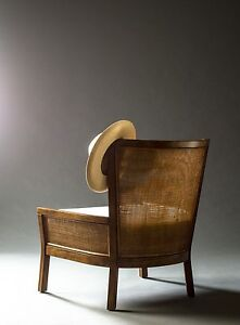 Rattan and Mahogany chair Avalon Pittwater Area Preview