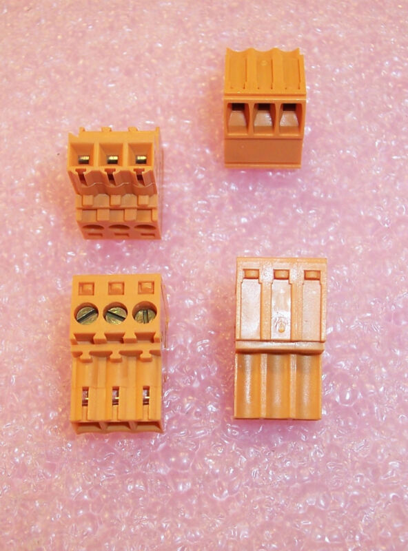 QTY (10)  BL3.5/3 WEIDMULLER 3 POSITION PLUGGABLE TERMINAL BLOCK 3.5mm