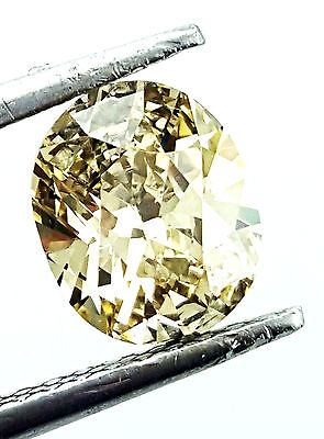 1 CT SI2 Clarity Oval Cut Fancy Yellow Color Natural Loose Diamond GIA Certified