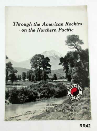 Vintage Northern Pacific Railway Yellowstone Park Line Train Brochure RR42