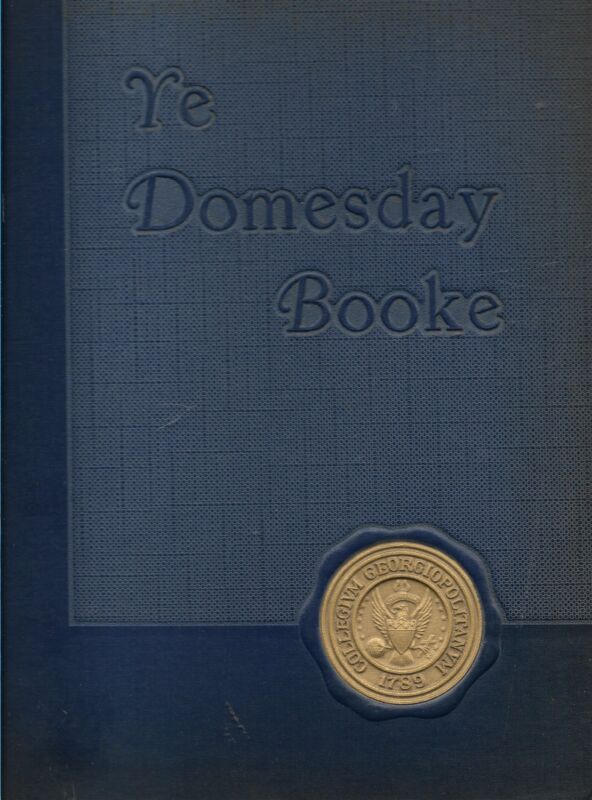 College Yearbook Georgetown University Ye Domesday Booke 1953