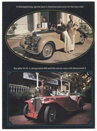 Vintage Sports Cars Ad Brochure: MGB, MGB/GT & MIDGET