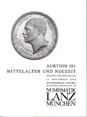 LANZ AUKTION 101 Katalog 2000 Neuzeit Mittelalter Aquileia Levinson Schrank ~