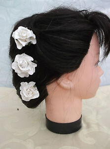 5-x-C-W-ROSE-FLOWER-HAIR-PINS-Wedding-Bridesmaid-Prom-Races-Accessories