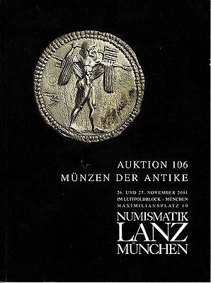 LANZ AUKTION 106 Katalog 2001 Kelten Griechen Römer Byzanz Völkerwanderung ~