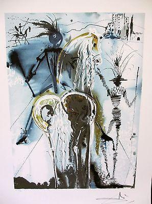 """Salvador Dali """"DON QUICHOTTE""""Don Quixote Limited Ed. Lithograph Facsimile Signed"""