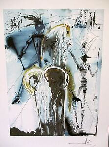 Salvador-Dali-034-DON-QUICHOTTE-034-Don-Quixote-Limited-Ed-Lithograph-Facsimile-Signed