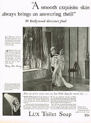 1920's BIG Original VINTAGE Lux Soap Actress May McAvoy Photo Print AD
