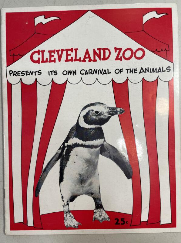 Vintage 1953 Cleveland Zoo Carnival of Animals Souvenir Program