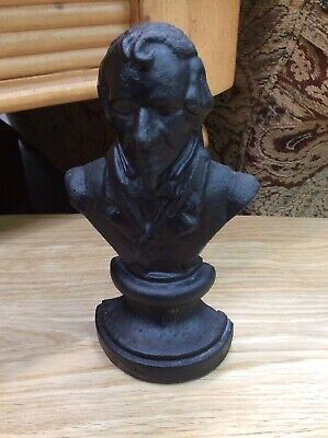 Antique Cast Iron Bust Of Benjamin Disraeli