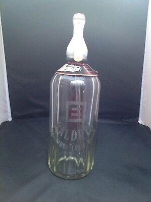 Vintage Baldrys Table Water Soda Siphon Cambridge
