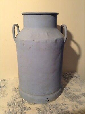 Vintage French Painted Milk Churn - Garden Planter, Coal Scuttle (3107)