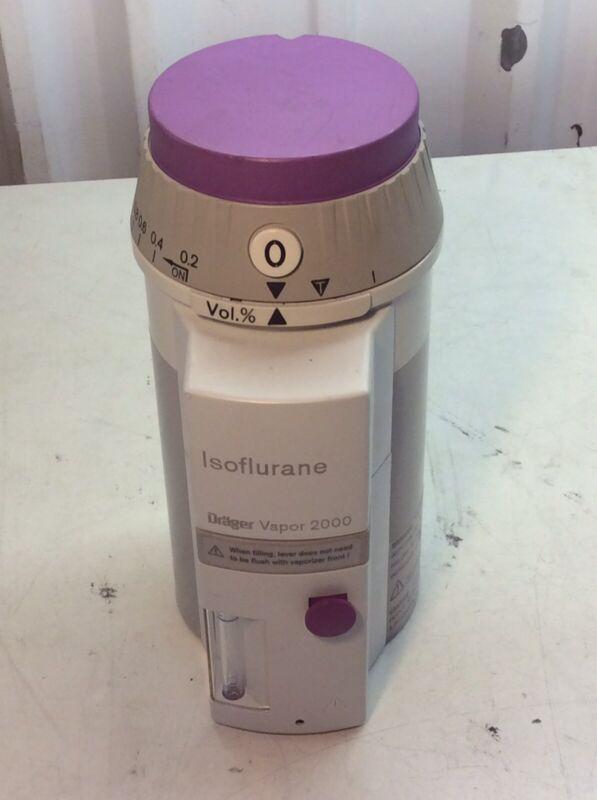 ISOFLURANE DRAGER VAPOR 2000  REF:M35160  SN:ARWE-0863 Anesthesia Vaporizer