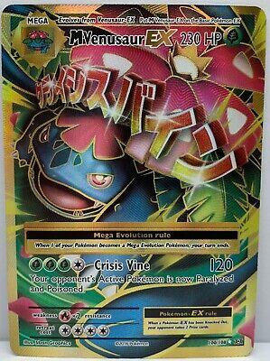 Pokemon M Venusaur EX 100/108 XY Evolutions Full Art Ultra Rare Holo MINT