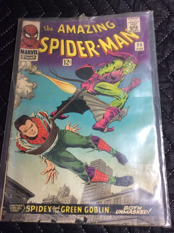 The Amazing Spider-Man #39 Spidey and the Green Goblin Aug 1966, Marvel Comics