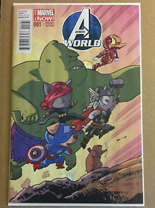 AVENGERS-WORLD-1-CHRIS-SAMNEE-1-25-ANIMAL-VARIANT-NM-1ST-PRINT-HICKMAN-SPENCER