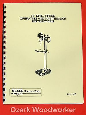 Delta-milwaukee 14 Drill Press Dp-220 Instructions Parts Manual 0239
