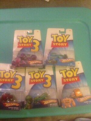 Disney Pixar Hot Wheels Toy Story. Lot Of 8. Rex Rider, Speedin' Stretch & more.