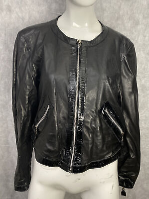 Sylvie Schimmel Leather Jacket Size 40 Made In France .