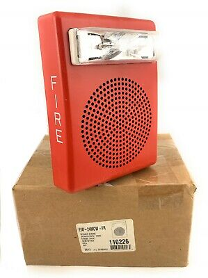 Wheelock Red Wall Mount Speaker Strobe Fire Emergency Alert Alarm E50-24mcw-fr
