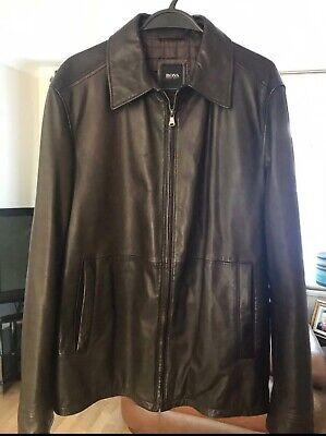 Hugo Boss Leather Jacket Size Large