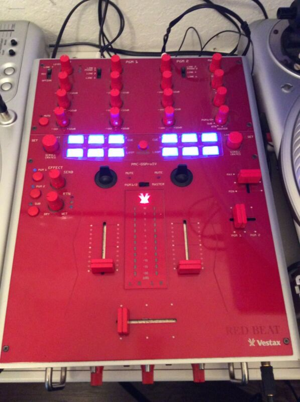 Vestax PMC-05 Pro IV 4 Professional Mixing Controller Red
