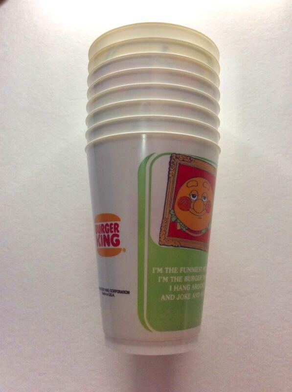 Vintage 1979 Burger King Plastic Fountain Restaurant Cups Set of 8
