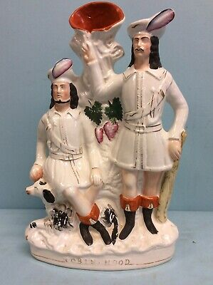 """English Staffordshire Pottery, """"Robin Hood"""" Spill Vase 15""""H for sale  Shipping to Canada"""