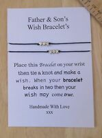 Fathers Day /father & Son Wish Bracelet With Stars /birthday Gift,charms,man -  - ebay.co.uk