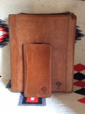 Vintage Pahio Resorts Leather 3 Ring Binder Portfolio