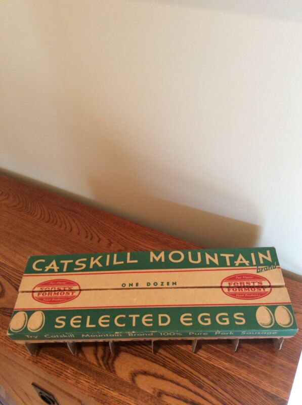 Vintage Collectible EGG CARTON-Catskill Mountain, Forst Packing Co, Kingston, NY