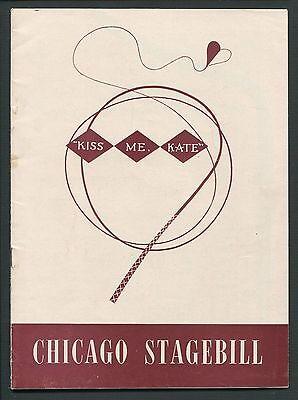 Vtg Program Chicago Stagebill Shubert Theatre Kiss Me Kate Anne Jeffreys 1949