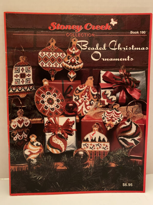 Stoney Creek Collection Beaded Christmas Ornaments Pattern Book Vintage 1997 New