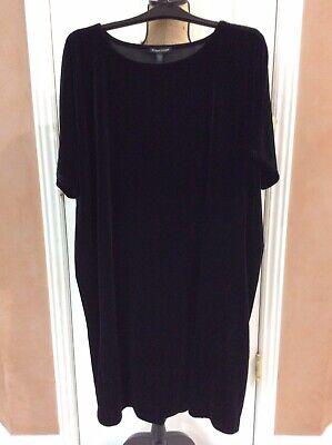 Eileen Fisher Black Velvet Dress, Size Large