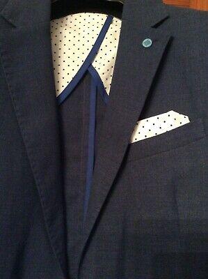 Dunkelblaue Italienischer Anzug (Italienischer Herrenanzug,Gr. 50/52, Dunkelblau)